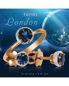 Золотой набор с топазами Лондон «Gold Brand»