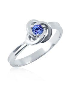 Золоте заручальне кольцо з танзанітом «Чари любові»