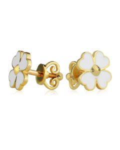 Золоті гвоздики в формі квітки «Fleur-de-lilas-blanc»