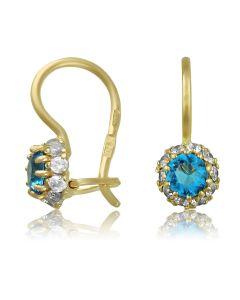 Маленькі сережки з блакитним топазом «Чудова мить»