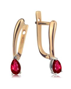 Женские серьги c рубинами «Зачарованное желание»