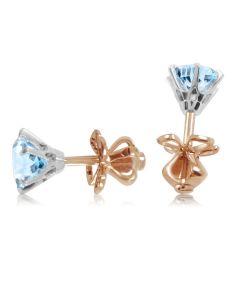 Золоті сережки з  топазами «Століття любові»
