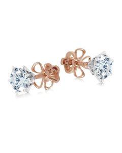 Серьги пусеты с бриллиантами «Век любви бесконечен»