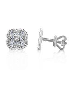 Золоті сережки з діамантами «Ван Кліф»