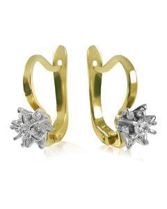 Золотые серьги с цирконием «Франсуаза»