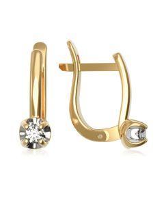 Сережки на англійській застібці з діамантами «Mesdames»