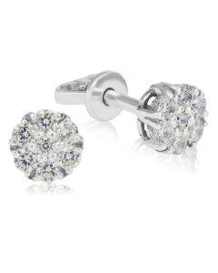 """Золоті сережки з діамантами """"Mystic Flower»"""