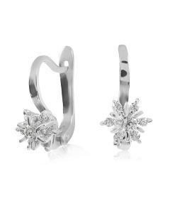 Бриллиантовые серьги из золота «Франсуаза»