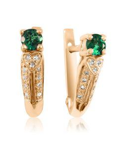 Серьги с бриллиантами и изумрудами цена