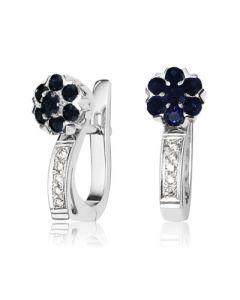 Сережки жіночі з сапфірами і діамантами «Fortunata»