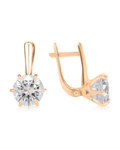 Золоті сережки великими каменями «My Tiffany»