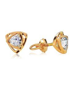 Золотые сережки пусеты с бриллиантами «Энигма»