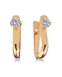Золоті сережки з діамантами 0,5 Ct «Любимая моя»