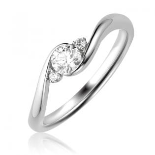 Оригинальное золотое помолвочное кольцо «Laurina»