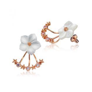 Серьги каффы в форме цветка «Дыхание весны»
