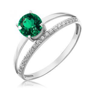 Золотое кольцо с гидротермальным изумрудом «Tender Heart»