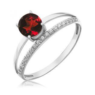 Золотое кольцо с гранатом «Tender Heart»