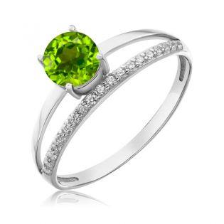 Золотое кольцо с хризолитом «Tender Heart»