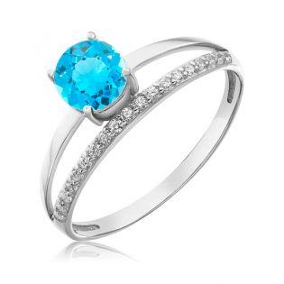 Золотое кольцо с топазом «Tender Heart»
