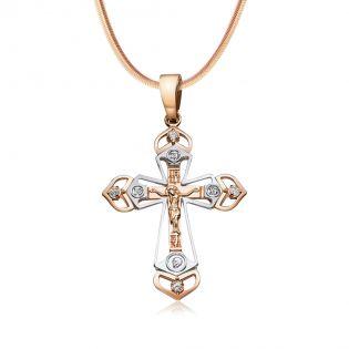 Золотой православный нательный крестик