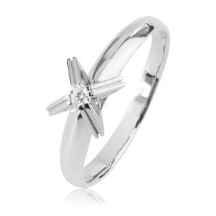 Помолвочное кольцо с одним бриллиантом «Теят»