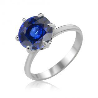 Золотое кольцо с сапфиром «My Tiffany»