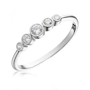 Кольцо с пятью бриллиантами «Tina»