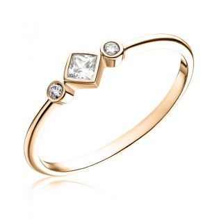Кольцо с тремя бриллиантами «Mindy»