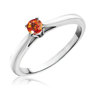 Золотое помолвочное кольцо со спессартином «Lily»