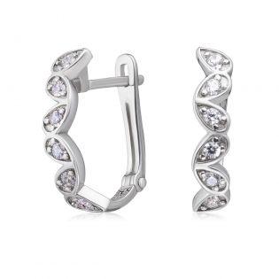 Золотые серьги c бриллиантами в лепестках «Petals»