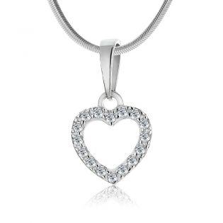 Золотий кулон у формі сердечка з діамантами «Loving»
