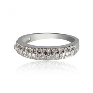 Золотое кольцо дорожка с фианитами «Сияние»