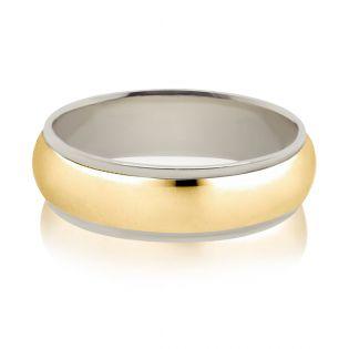 Обручка з двох кольорів золота «Provence»