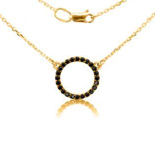Золотое колье на цепочке «Кольцо»