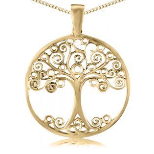 Кулон золотой без камней «Дерево жизни»