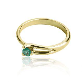 Кольцо помолвочное из золота с изумрудом «Любовь моя»
