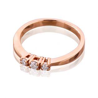 Золотое кольцо с Сваровски для предложения «Танюша»