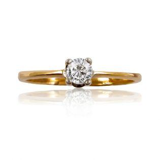 Золотое кольцо с цирконием для предложения «Долина любви»