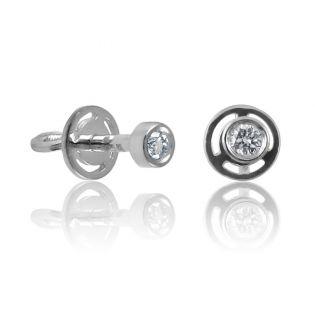 Круглые сережки с бриллиантами «Monique»