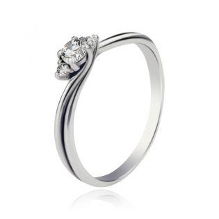Золотое кольцо с бриллиантами для предложения «Эвери»