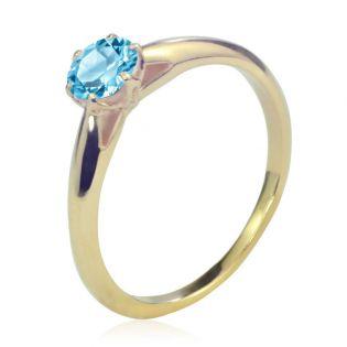 Золотое кольцо с топазом «Парижанка»