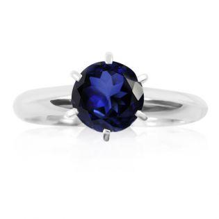 Кольцо на помолвку с сапфиром «Век любви бесконечен»