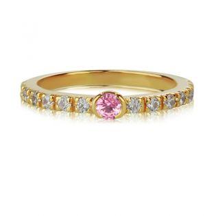 Золотое тонкое кольцо с сапфирами «Megan»