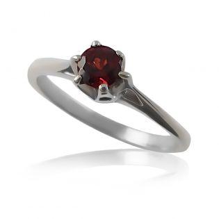 Женское золотое кольцо с гранатом «Анабель»