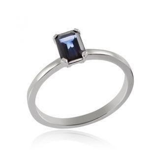 Женское кольцо с прямоугольным сапфиром  «Джейн»