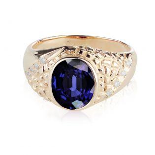 Золотое кольцо с сапфиром «Персидский Шахиншах»