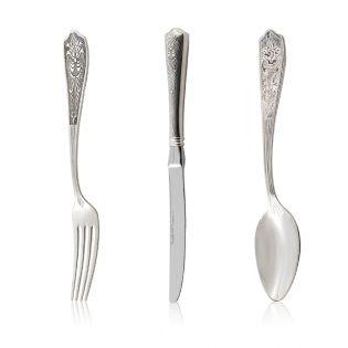 Срібний набір столових приладів «Savor»