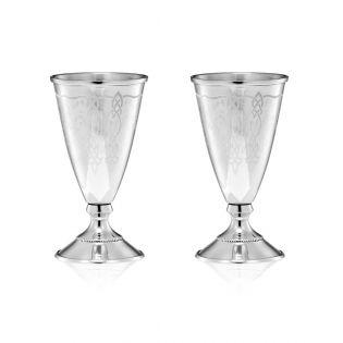 Набор серебряних рюмок на ножке «Petit verre»