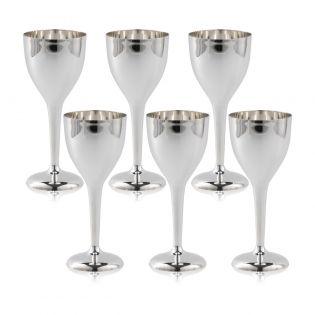 Набор серебряных бокалов на длинной ножке «Fiesta»