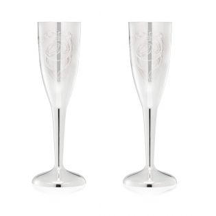 Пара серебряных свадебных бокалов «Sauvignon»